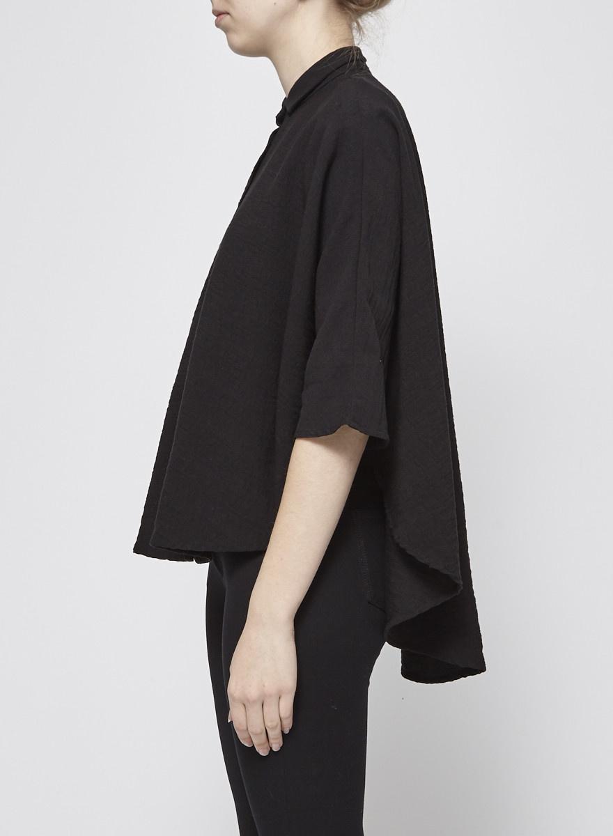 Noemiah Black Cape Shirt