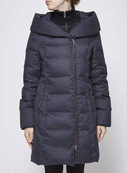 Soia & Kyo GREY AND BLACK HOODED DOWN COAT