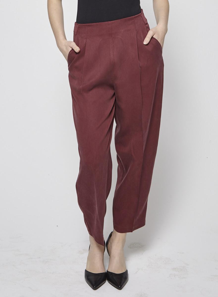 Amanda Moss Pantalon rouge à taille haute