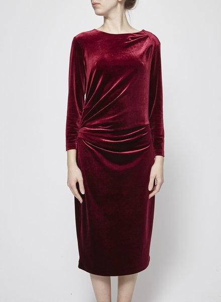 InWear BURGUNDY VELVET DRESS