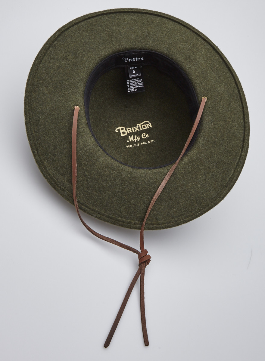Brixton Chapeau vert en laine