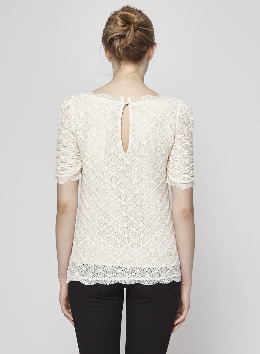 Joie Cream Lace Top
