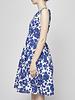Weekend Max Mara Robe fleurie bleu et blanc en coton