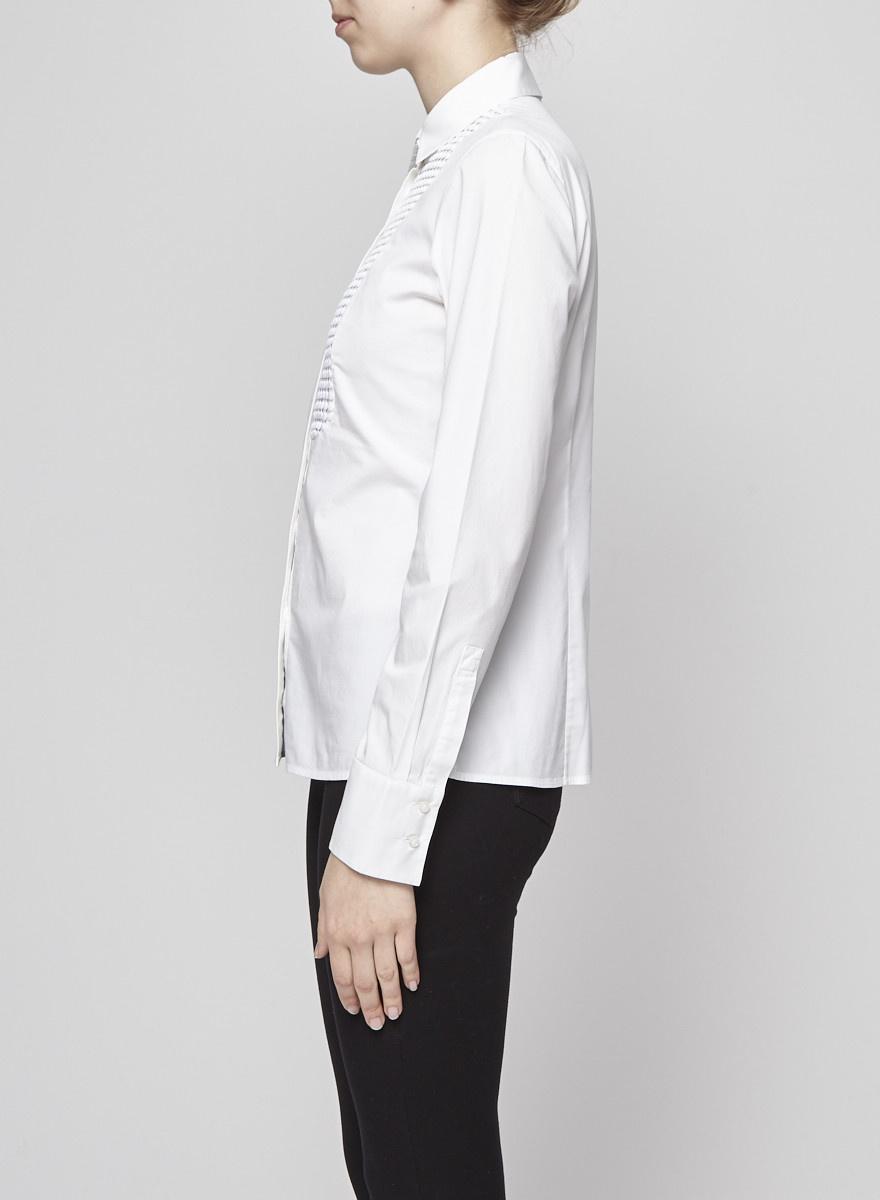 BOSS Hugo Boss Chemise blanche plastron à oeillets