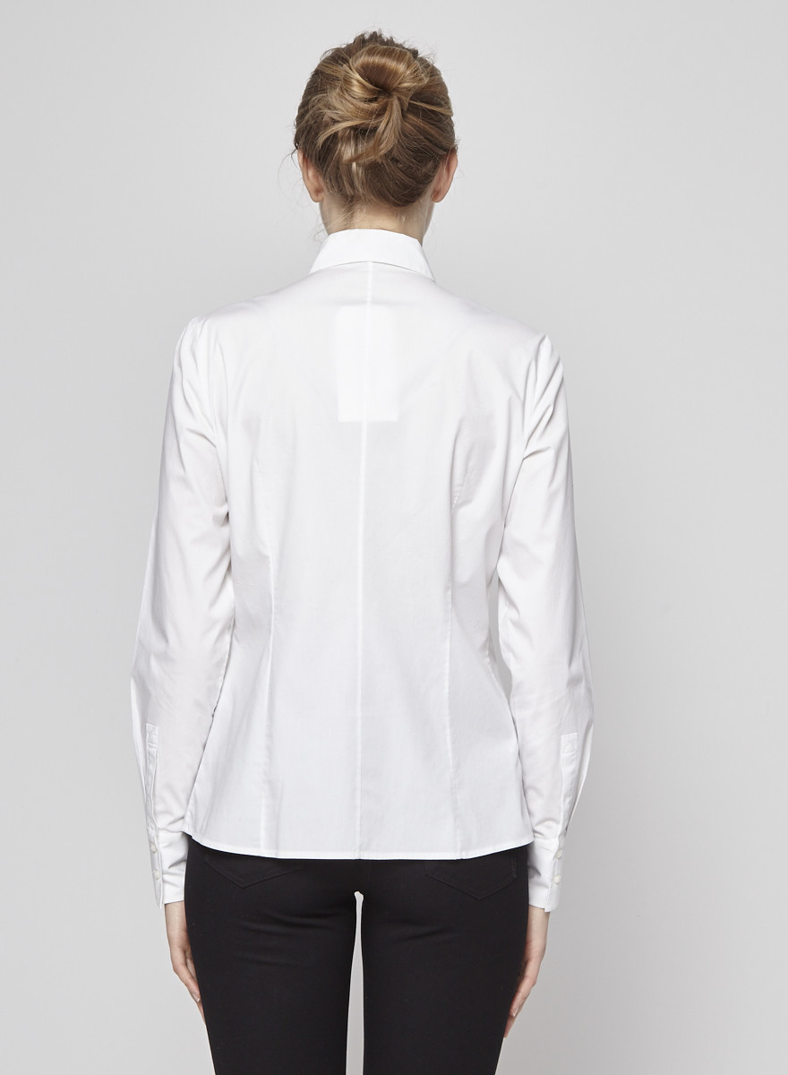 BOSS Hugo Boss White Blouse with Eyelets