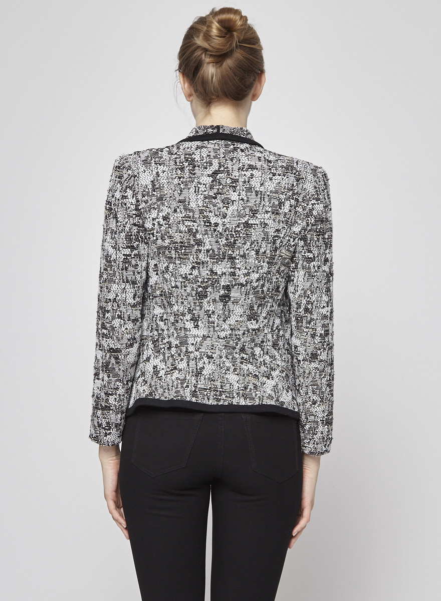Vince Black and White Tweed Jacket