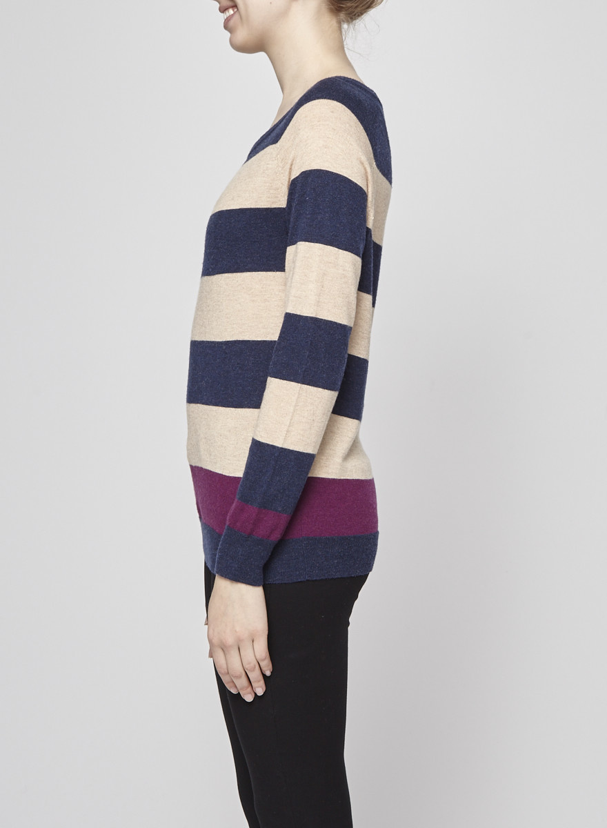 Joie Striped Wool and Cashmere Sweater