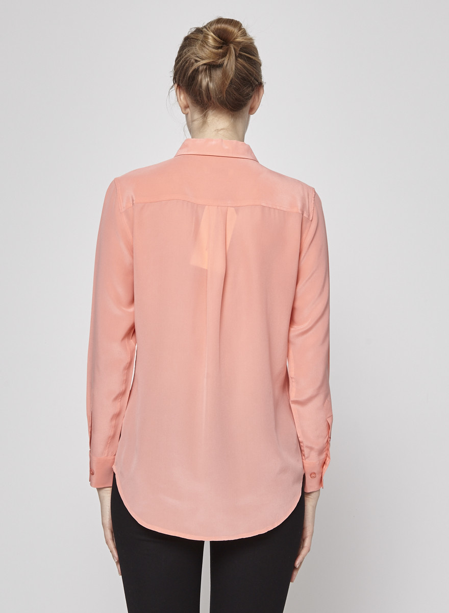 Equipment Pink Silk Shirt