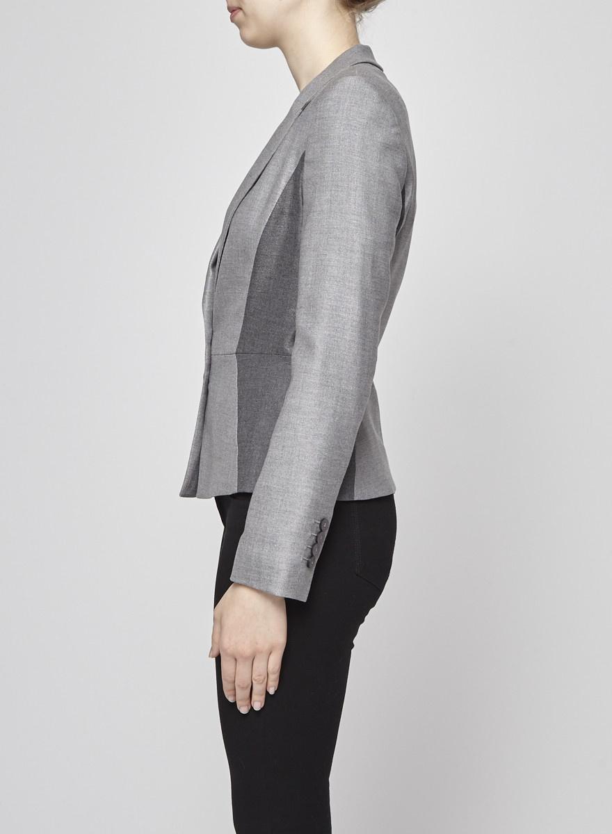 BOSS Hugo Boss Two-Tone Grey Wool Blazer