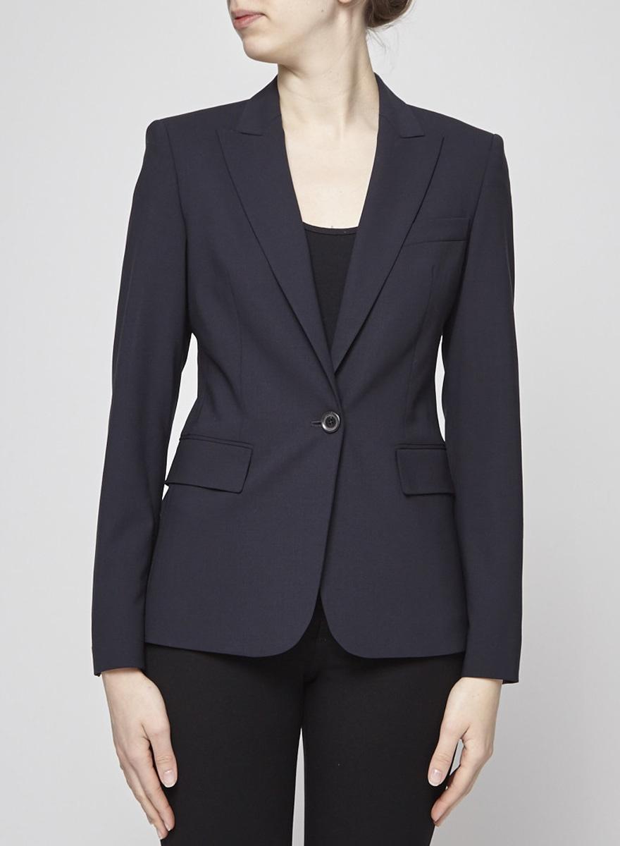 BOSS Hugo Boss Midnight Blue Wool Blazer