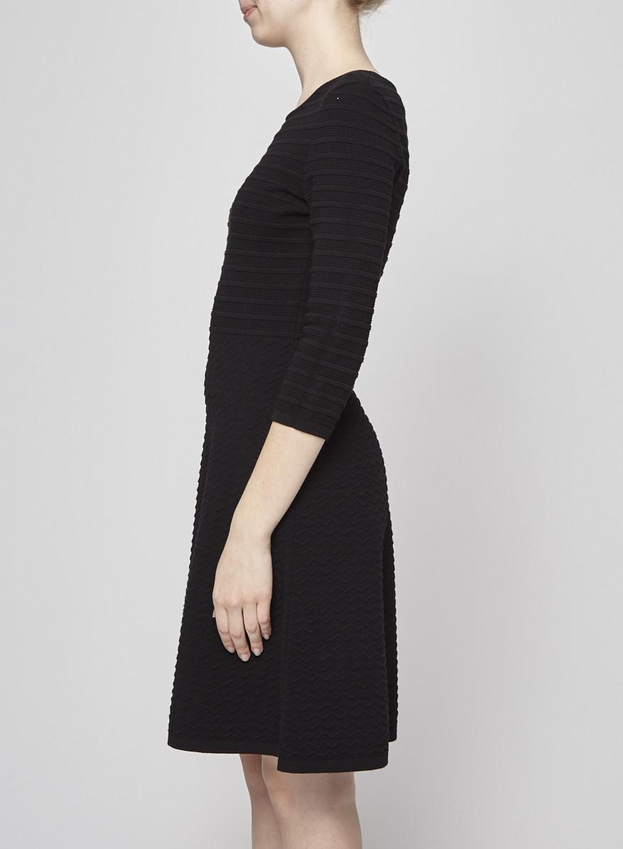 HUGO Hugo Boss Robe noire en tricot
