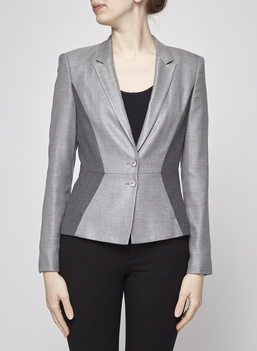 BOSS Hugo Boss Veston gris bicolore en laine