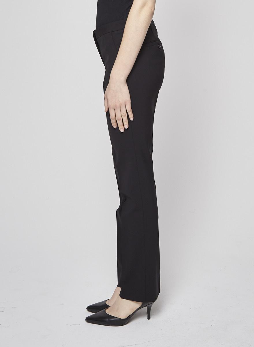 Theory Pantalon fuselé noir en laine