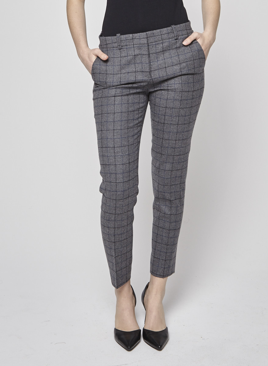 Theory Pantalon gris à carreaux