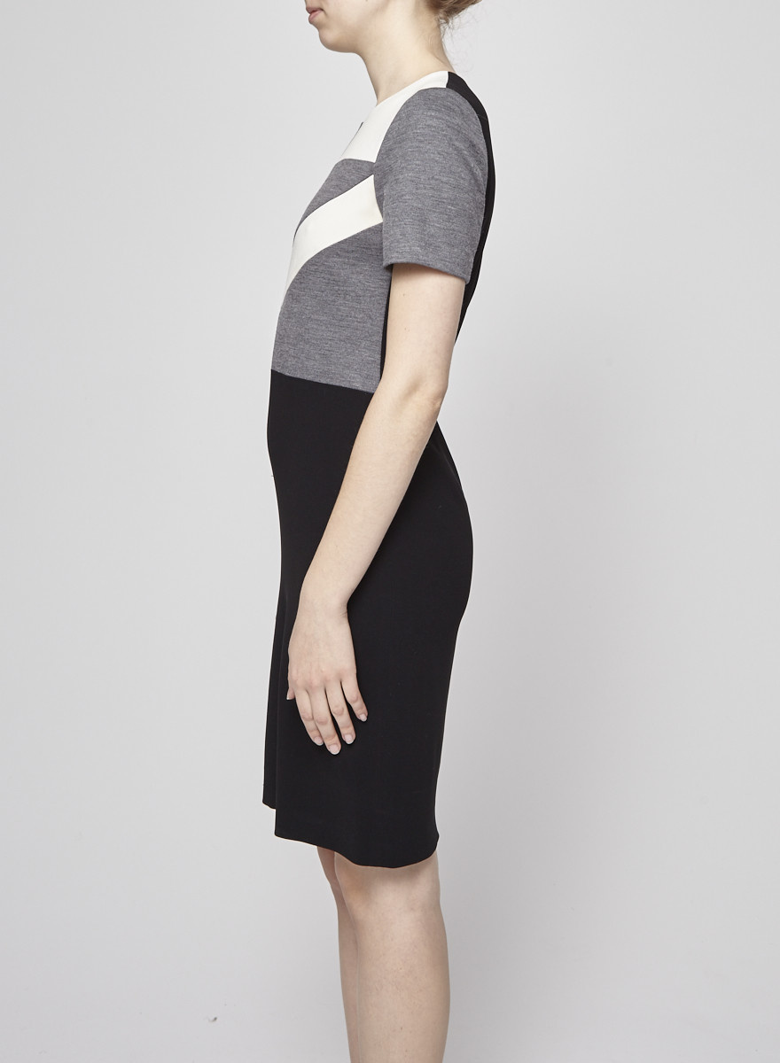 Judith & Charles Black, White and Grey Structured Dress