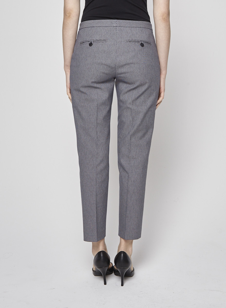 Theory Navy Houndstooth Trousers