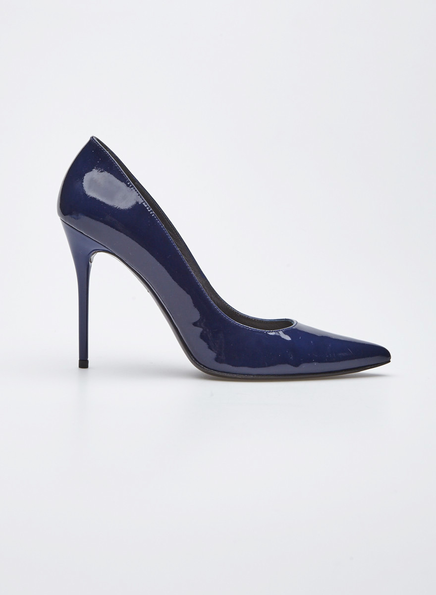 3a70374771f Navy Blue Patent Leather Pumps - Stuart Weitzman - DEUXIEME EDITION