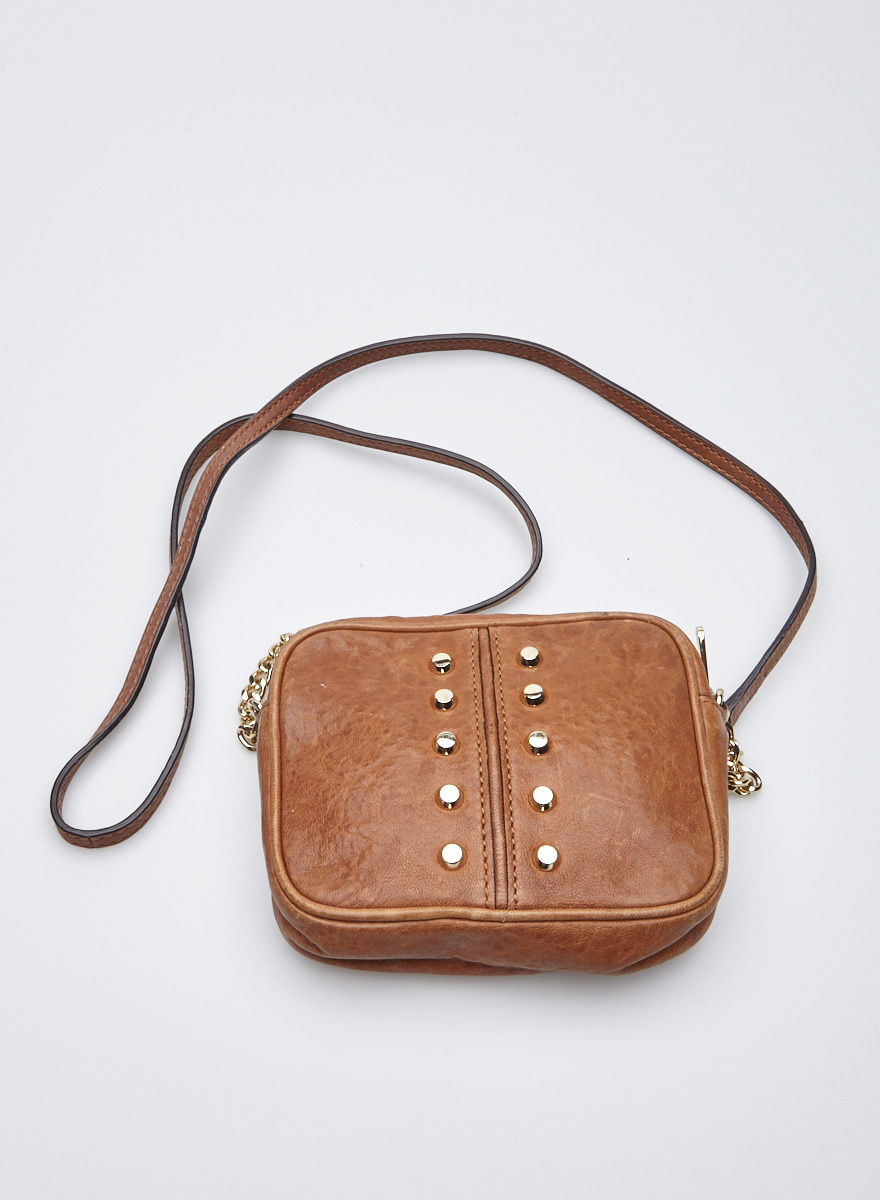 c735b56be89f Michael Kors Brown Studded Handbag - Foto Handbag All Collections ...