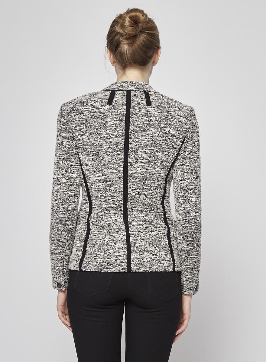 Rag & Bone Veston en tweed noir et blanc