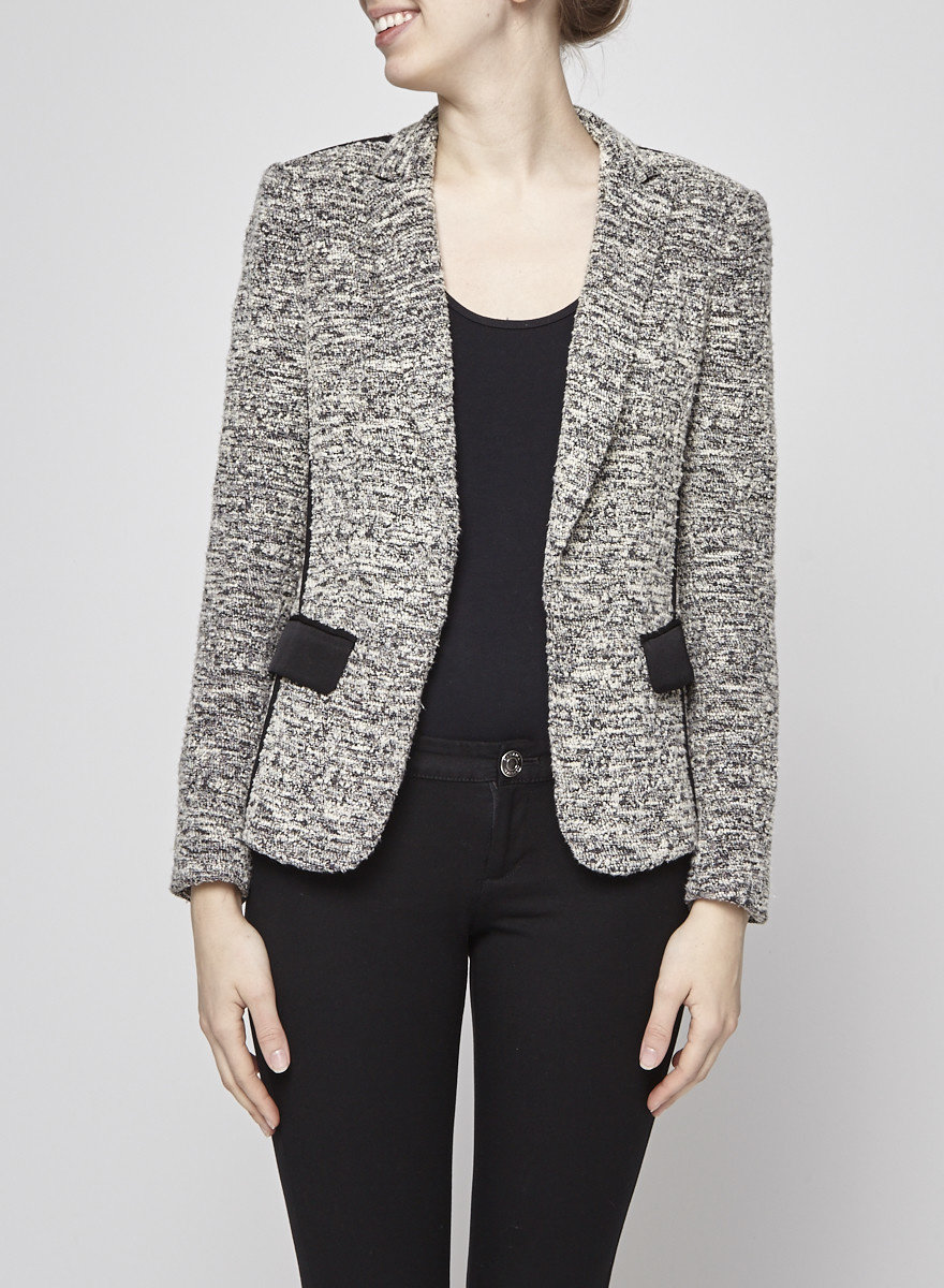 Rag & Bone Black and White Tweed Jacket