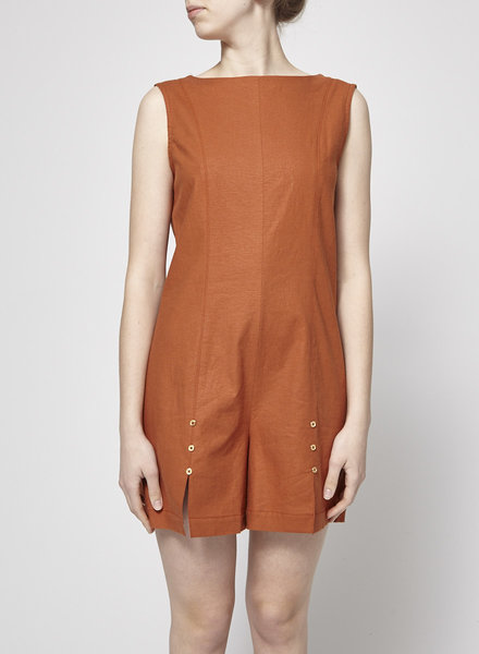 Noemiah LINEN OCHRE PLAYSUIT - NEW