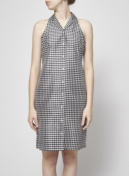 Lauren Ralph Lauren PLAID BLACK AND WHITE SLEEVELESS DRESS