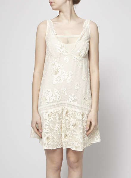 Hoss Intropia OFF-WHITE LACE DRESS