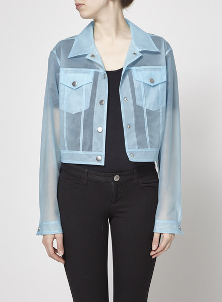 J Brand CROPPED CYRA JACKET IN VEGA CLOUD - NEW