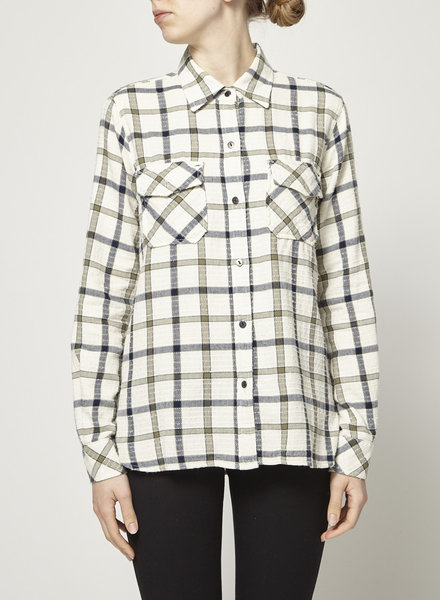 Current Elliott OFF-WHITE PLAID SHIRT