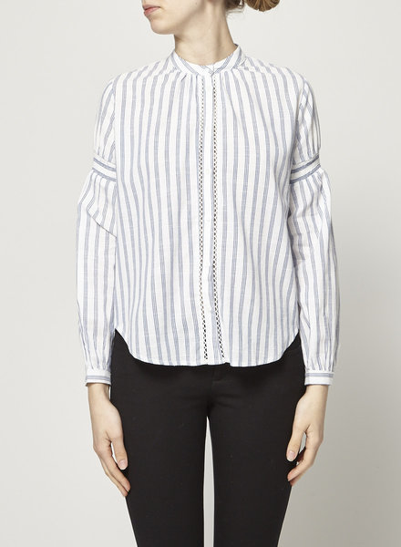 Heartloom WHITE SHIRT WITH BLUE STRIPES - NEW WITH TAG