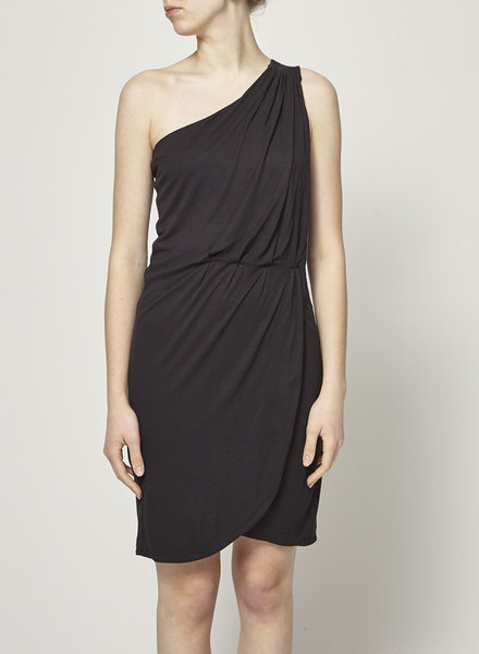 Marc by Marc Jacobs OFF-THE-SHOULDER DRAPE BLACK DRESS - NEW