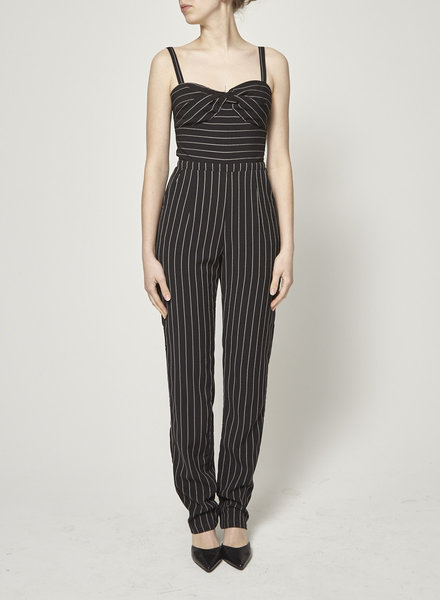 Heartloom BLACK JUMPSUIT WITH WHITE STRIPES - NEW WITH TAG
