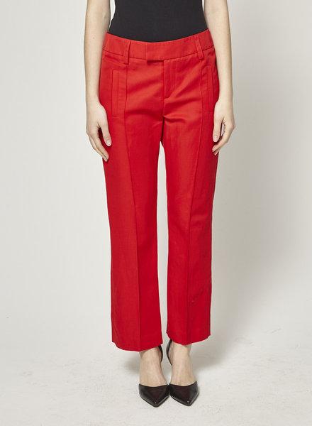 Smythe CROPPED RED PANTS