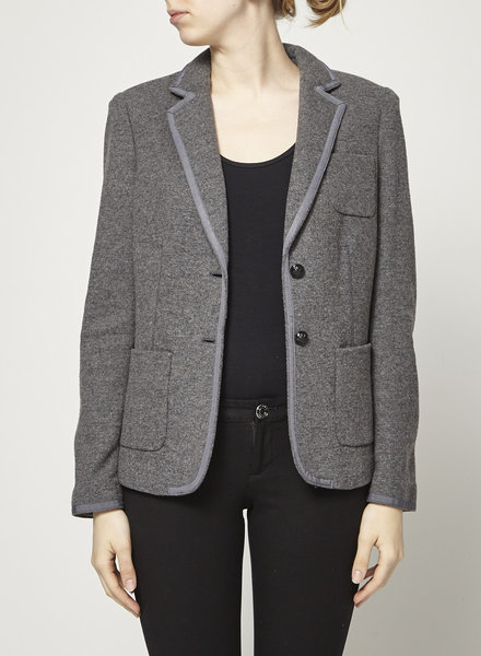 Banana Republic GRAY WOLLEN BLAZER