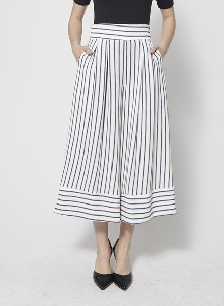 Misa BLUE AND WHITE STRIPED WIDE-LEG PANTS - NEW WITH TAG