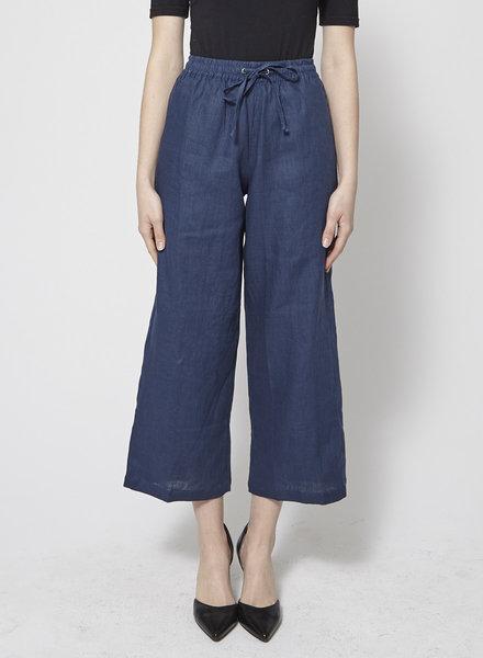 Faithfull The Brand CLEMENCE VINTAGE BLUE LINEN PANTS - NEW