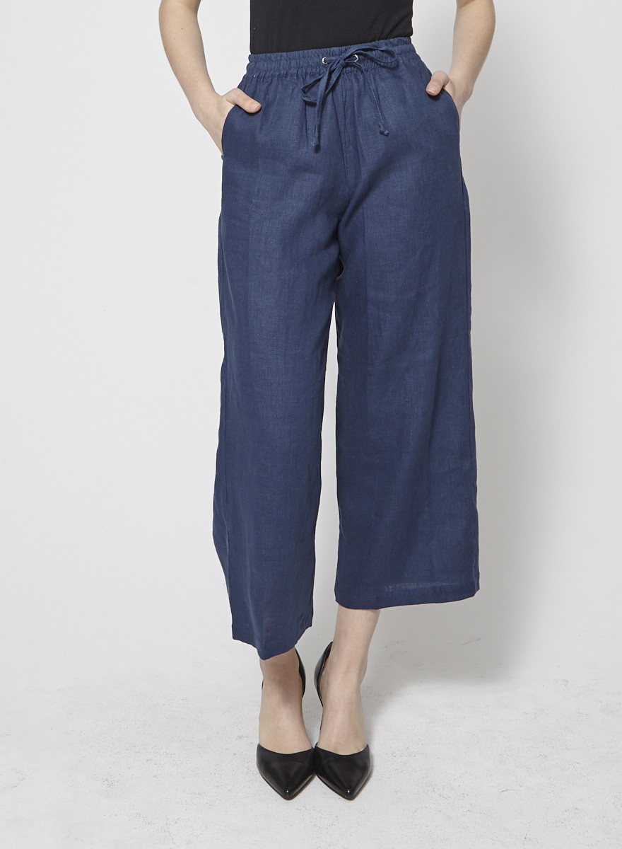 Faithfull The Brand Pantalon marine en lin - Neuf