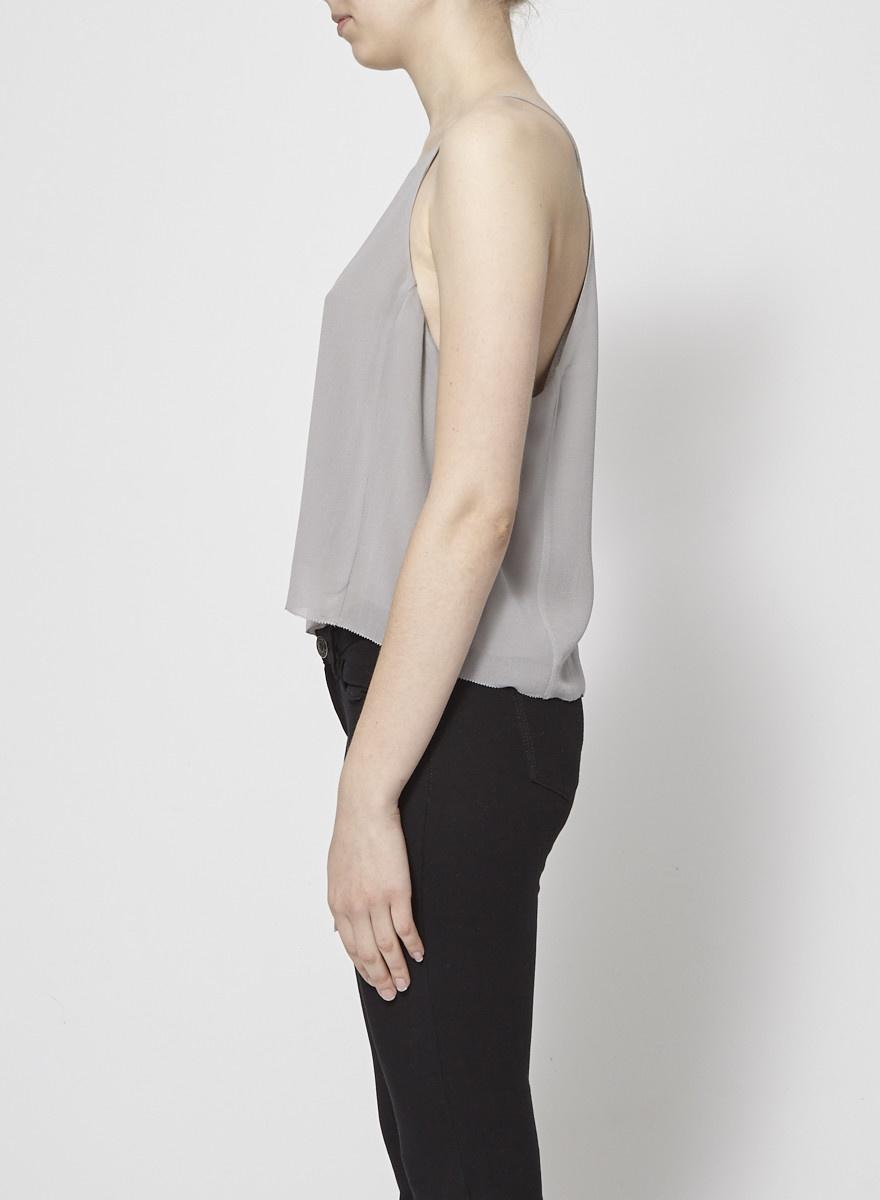 Wilfred Camisole grise en soie