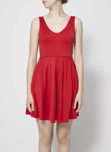 Lustre BALLERINA STYLE RED DRESS WITH POCKETS
