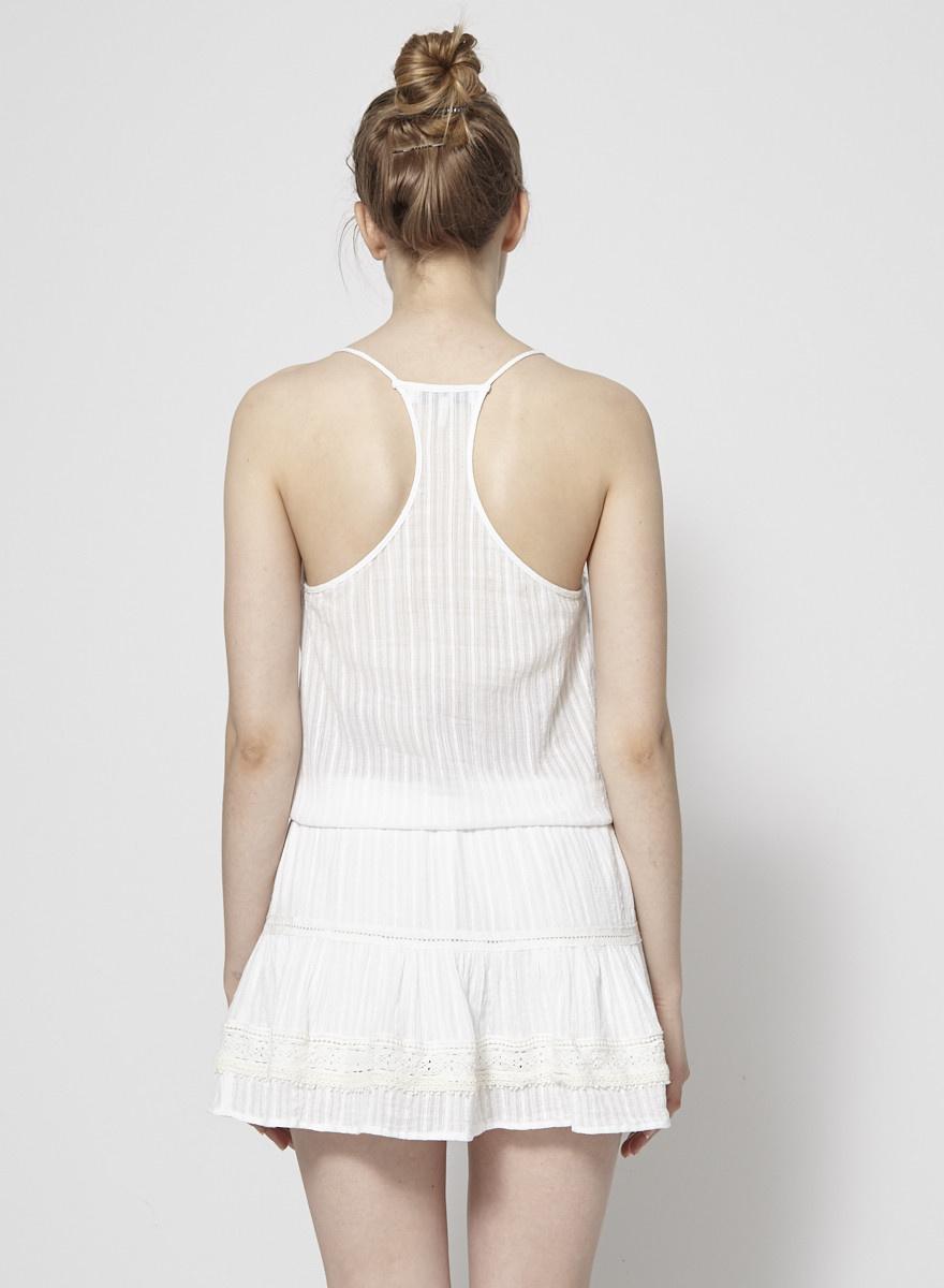 Heartloom Robe blanche à empiècements en dentelle