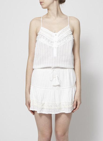 Heartloom WHITE LACE-PANELED DRESS