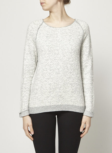 Joie GRAY AND WHITE SWEATER