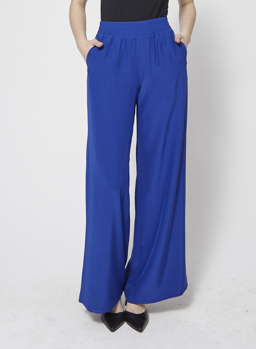 Amanda Uprichard Pantalon ample bleu royal
