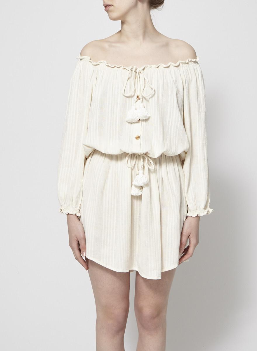 Faithfull The Brand Robe crème légère épaules nues - Neuve