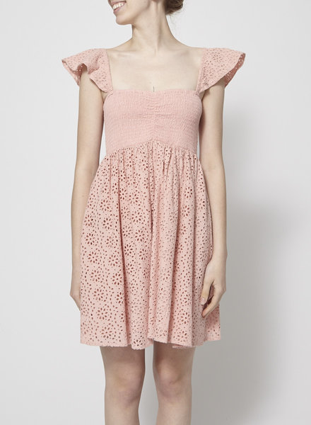 Elan ANTIQUE ROSE BRODERIE ANGLAISE DRESS