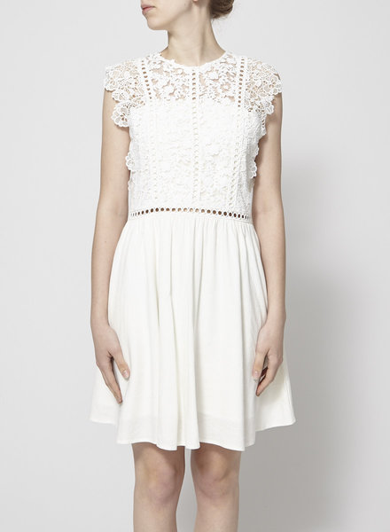 Heartloom OFF WHITE LACE AND BRODERIE ANGLAISE DRESS - NEW