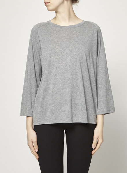 Vince GREY LONG SLEEVE COTTON TOP - NEW