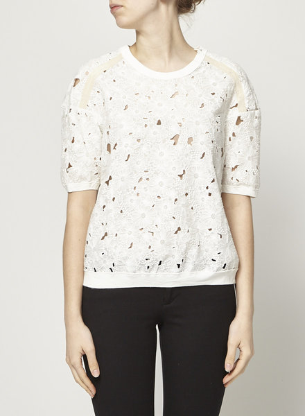 Rebecca Taylor LACE OFF WHITE TOP