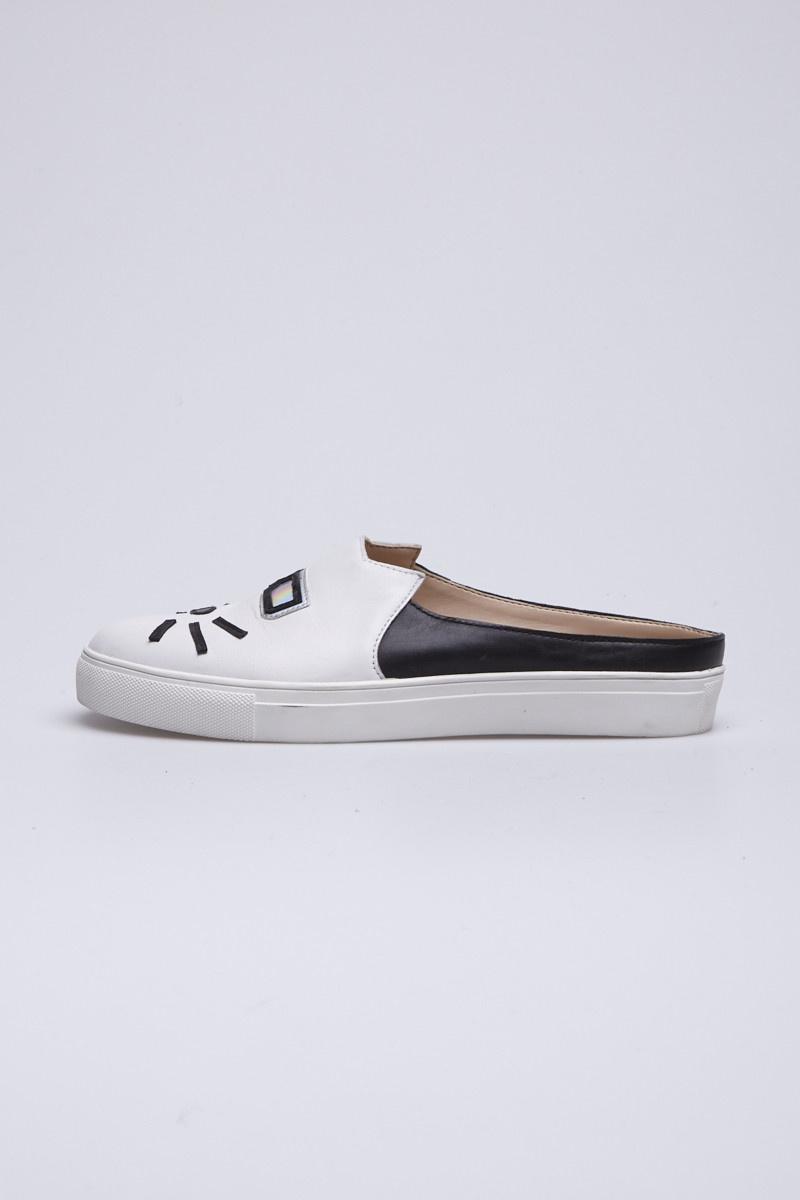 Karl Lagerfeld Chaussures en cuir noir et blanc