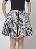 Marigold Tropical-Print Skater Skirt
